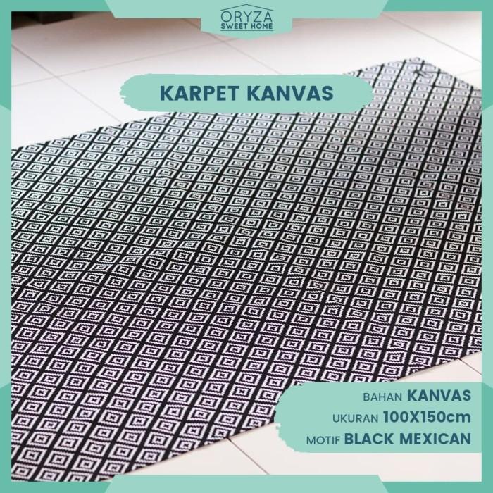 Nama Warna Cat Rumah Minimalis  jual karpet lantai tebal minimalis karpet kanvas motif black mexican kab sleman oryza sweet home tokopedia