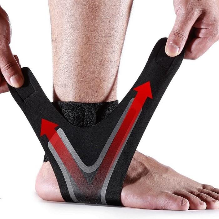 Foto Produk MKA Ankle Brace Support Elastic Wrap Sleeve Pelindung Pergelangan Kaki - kiri dari Kiddies World