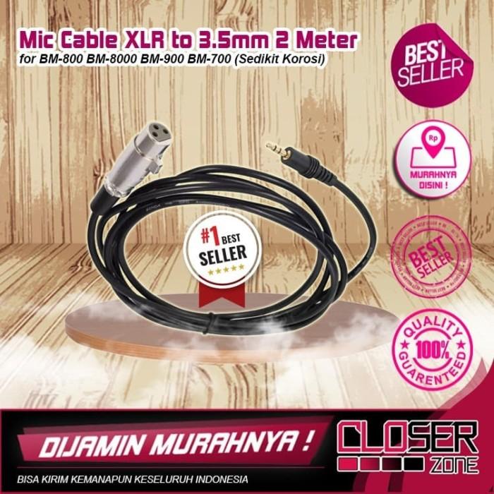 Foto Produk Kabel 3.5mm To XLR Karaoke Microphone Berkarat 2 Meter For BM-800 BM-8 dari CLOSERZONE