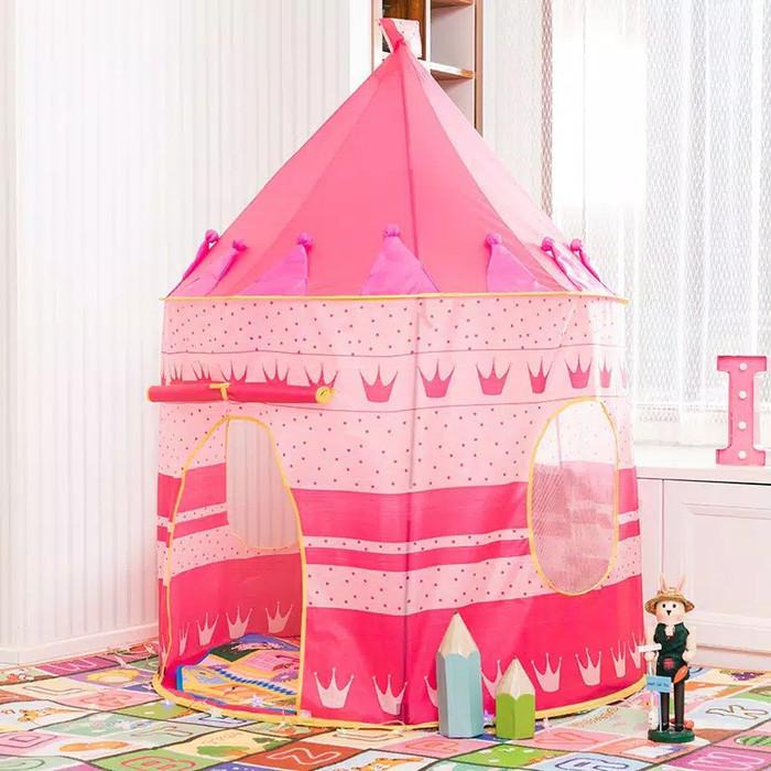Foto Produk Mainan tenda Castle anak - Merah Muda dari Ni Baby Shop