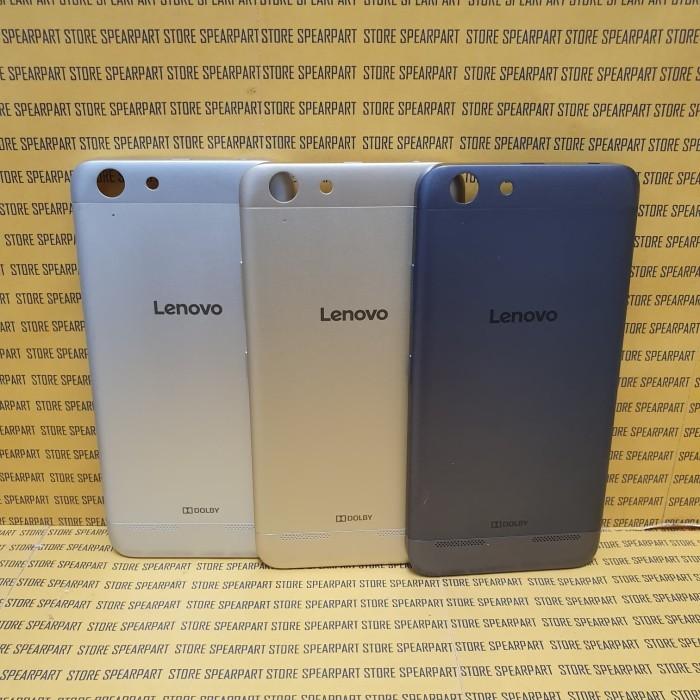 Foto Produk Backdoor Back Casing Tutup Belakang Backcover Lenovo A6020 Vibe k5 K5+ - Grey dari Store Sperpart