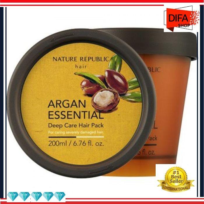 Foto Produk F62 Nature Republic Argan Essential Deep Care Hair Pack 200 ml dari Difa Grosir