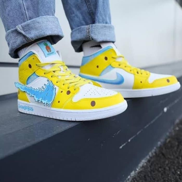Jual Sepatu Nike Air Jordan 1 Spongebob