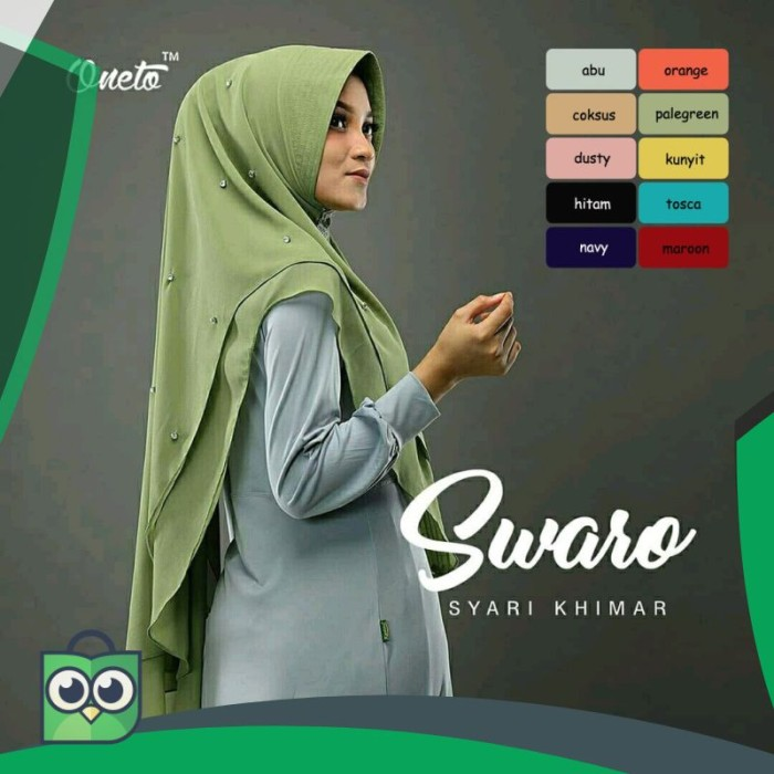 Jual Oneto Swaro Pale Green Mutiara Instan Hijab Tutorial Hijab Jakarta Utara Sandrasusaanti Mall Tokopedia