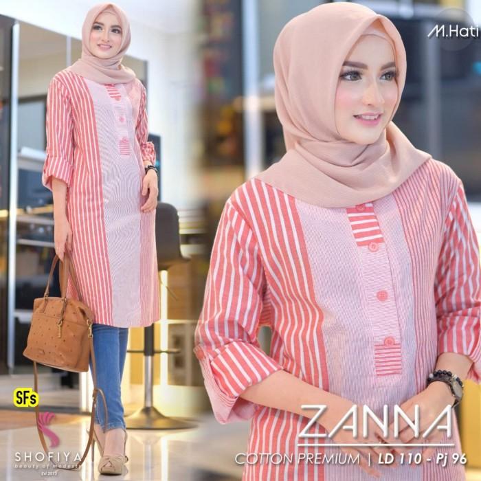 Foto Produk Baju Atasan Wanita Blouse Muslim Zanna Tunik Shofiya dari myfashion