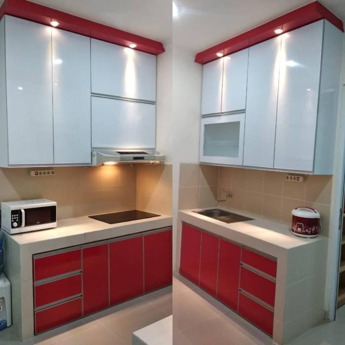 Jual Kitchen Set Minimalis Putih Kab Tangerang Kitchenset Kelapa Dua Tokopedia