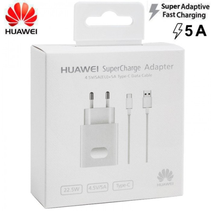 Foto Produk HUAWEI Charger HW-050450E00 SuperCharge with Cable Type-C Original 5A dari B.GADGET