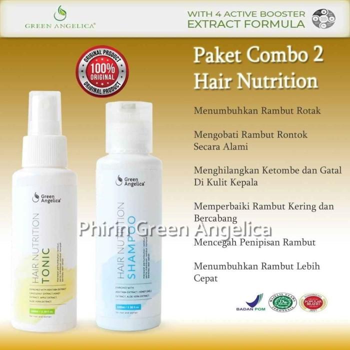 Foto Produk Green Angelica Hair Tonic dan Shampo Penumbuh Rambut Botak Ringan dari Phirin Green Angelica