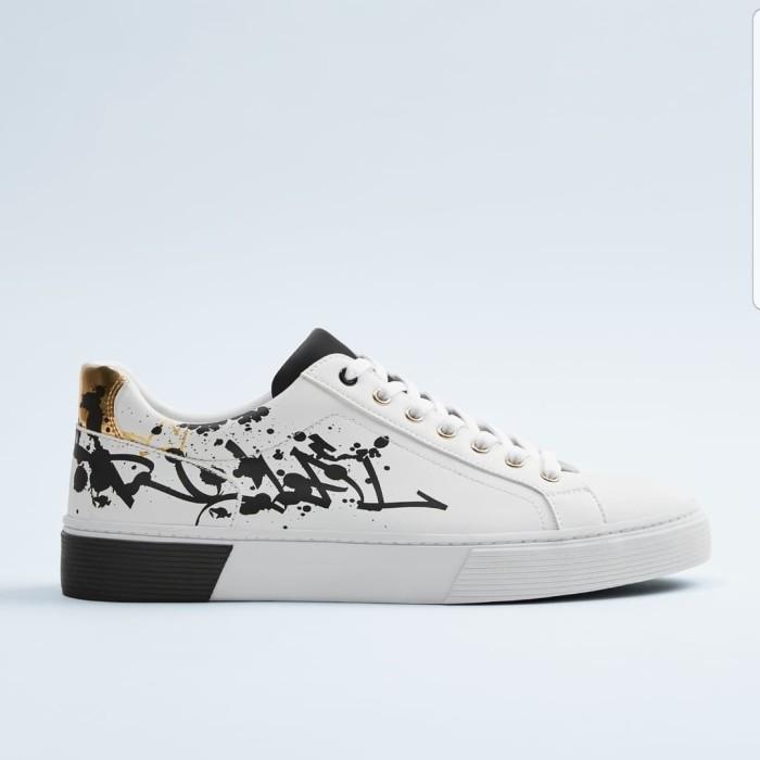 Jual Sepatu Pria Sneaker Putih Zara Kab Bandung Kingstore Os