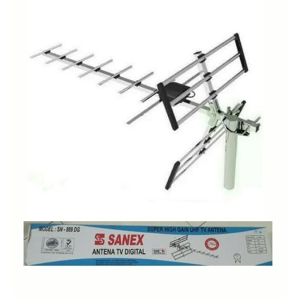 Foto Produk Antena Antena TV Outdoor Digital Sanex SN-889DG SN889DG free kabel TV dari Alladin Shop