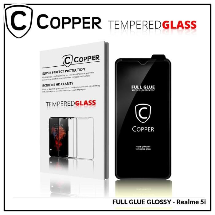 Foto Produk Realme 5i - COPPER Tempered Glass FULL GLUE PREMIUM GLOSSY dari Copper Indonesia