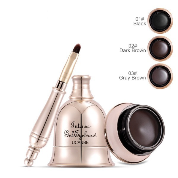 Foto Produk Makeup Bell Shaped 2 in 1 Eyebrow Gel 3 Color Waterproof 3D Eye Brow dari Tokoe Udin