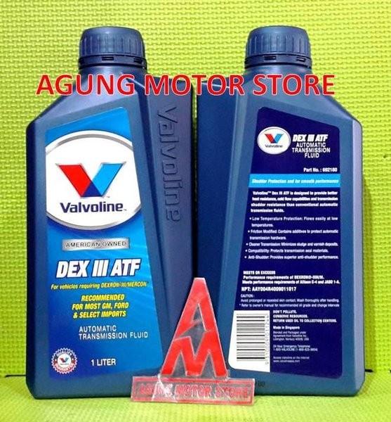 Foto Produk TERMURAH Oli Transmisi Matic VALVOLINE ATF DEX III ( 1 liter ) dari UTAMA JAYA ONDERDIL