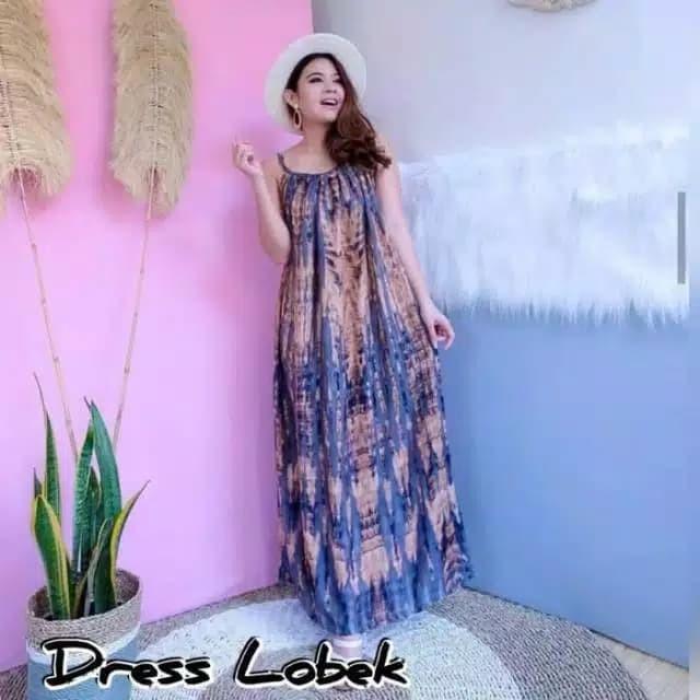 Foto Produk DRESS LOBEK PANJANG BALI / DASTER PAYUNG LOBEK JUMBO LD 130 CM dari Kosmetik Original No KW