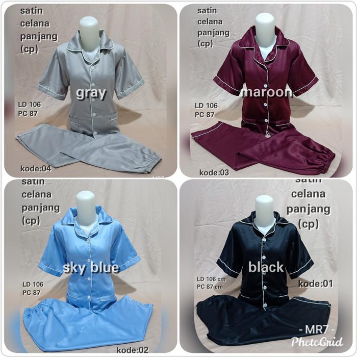 Foto Produk Piyama Satin Celana Panjang - Hijau dari MR Colection Bandung