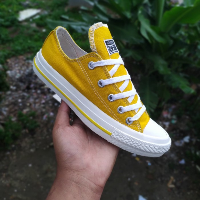 Jual Sepatu Converse Allstar Kuning Pendek Premium Vietnam