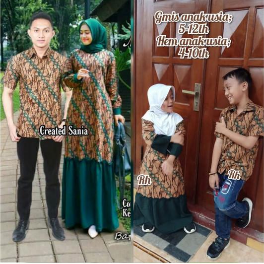Foto Produk BAJU COUPLE BATIK KELUARGA GAMIS KEMEJA 2 ANAK OUTFIT KONDANGAN BARU dari Aziz shop973