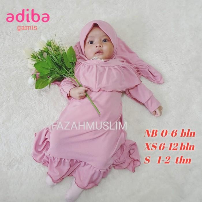 Foto Produk gamis bayi perempuan newborn aqiqah baju muslim bayi anak - NB 0-6 BLN, pink dusty dari FAZAHMUSLIM