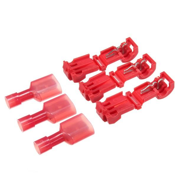3M T-TAP Quick Wire Connectors Red 22-18 Ga Gauge Car Audio Terminals 25