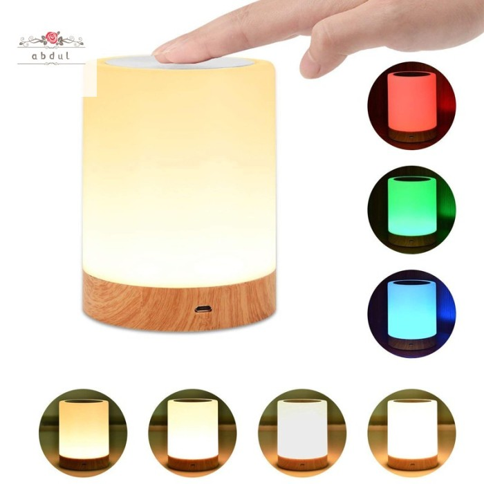 Jual Portable Table Night Light Bedside Lamp Rechargeable Rgb Dimmable Lig Jakarta Barat Tokoe Udin Tokopedia