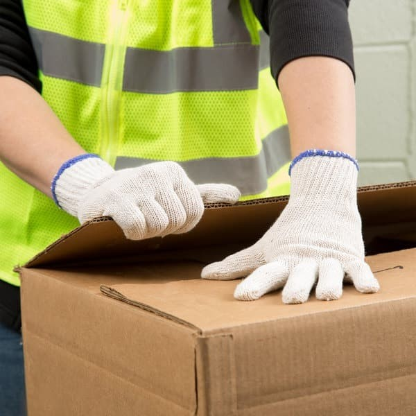 Foto Produk Sarung tangan kerja Kain Proyek katun benang 3 safety Glove Sepasang dari lbagstore