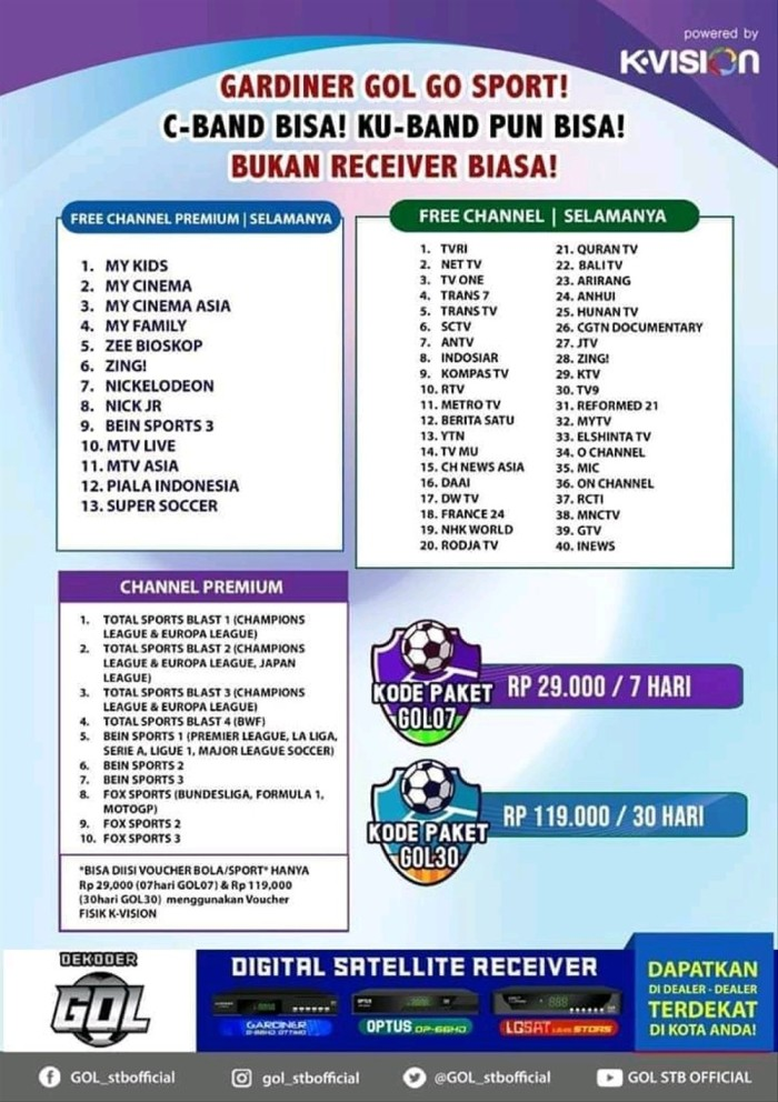 Jual Paket Parabola Mini Tv Nasional Terlengkap Dan Channel Premium Jakarta Timur Suryaniwijaya79 Mall Tokopedia