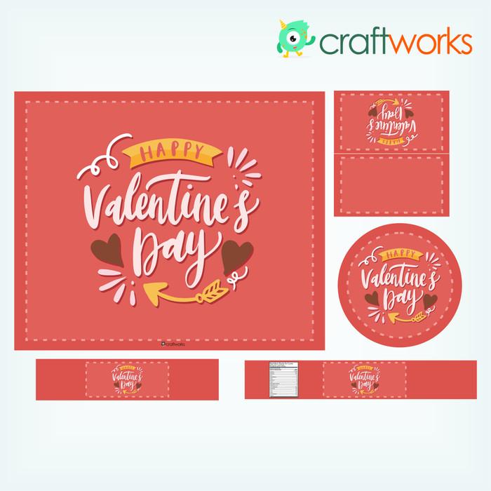 Jual Valentines Dinner Custom Placemat Coaster Table Name Tag Set Jakarta Utara Oja Store Tokopedia