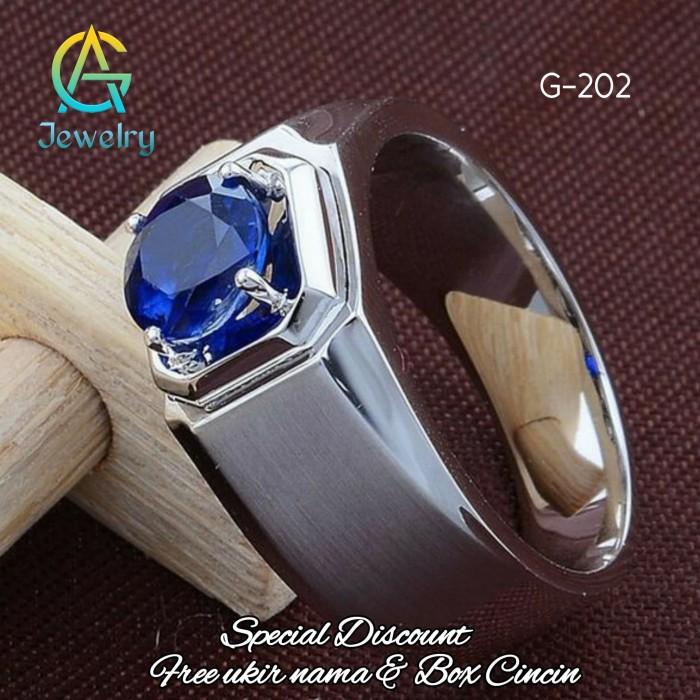 Jual Cincin Perak Pria Emban 925 Silver G 202 Kota Yogyakarta