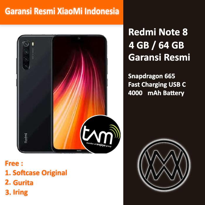 Foto Produk Xiaomi Redmi Note 8 - 4 GB / 64GB - Garansi Resmi TAM - Hitam dari MW Tech