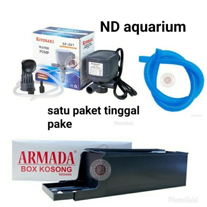Jual pompa aquarium filter satu paket mesin+box +selang ...