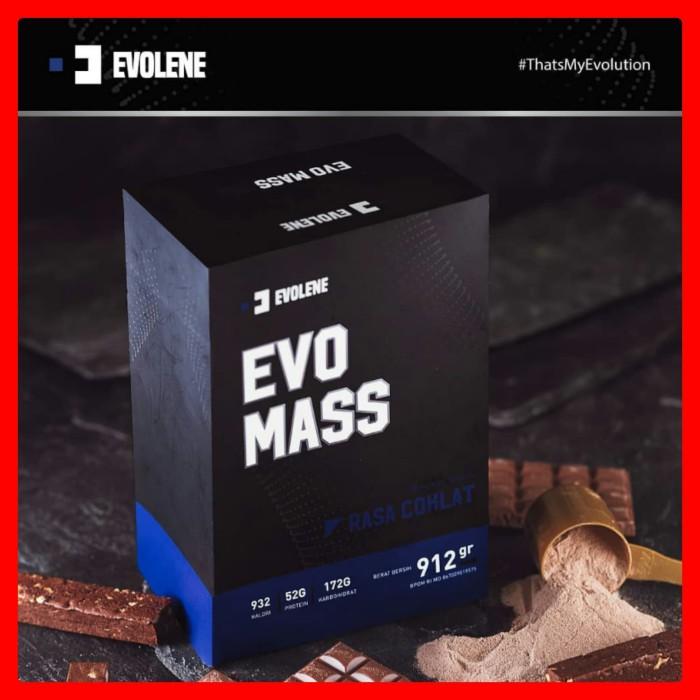 Foto Produk Evolene Evo Mass EvoMass Gainer 912 Gram 912gram 912gr 2lbs HALAL BPOM dari Evolene Malang