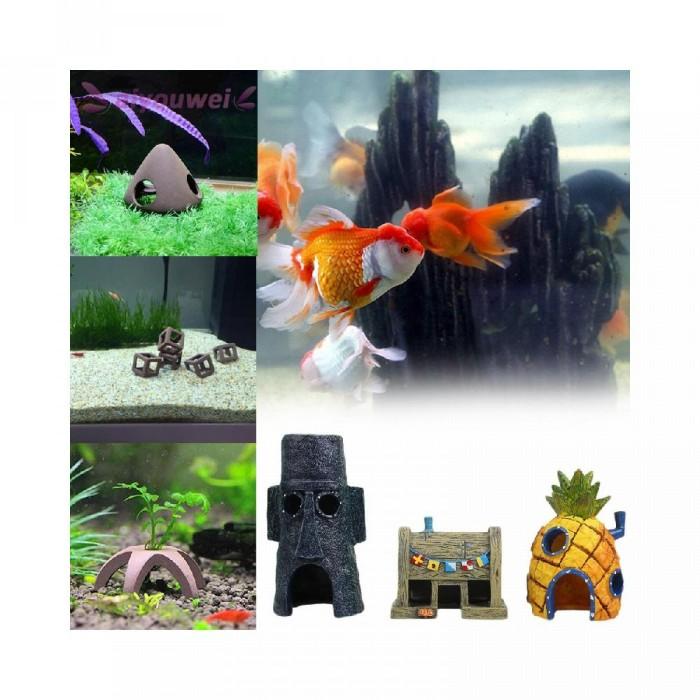 Jual Hiasan Aquarium Bentuk Rumah Nanas Spongebob Squarepants Squidward Kru Jakarta Barat Gaskan Official Tokopedia