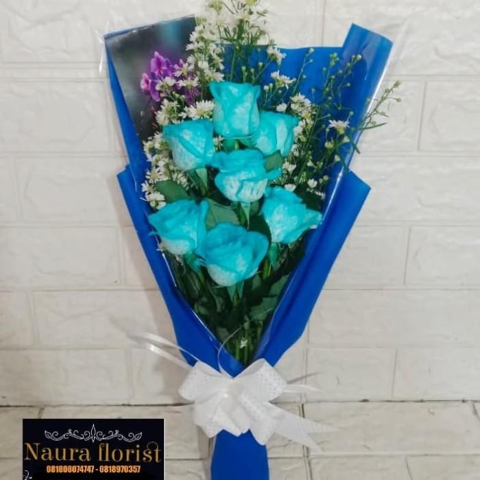 Jual Buket Bunga Premium Bucket Mawar Promo Bunga Wisuda Mawar Biru 001 Jakarta Selatan Nauraflorist Tokopedia