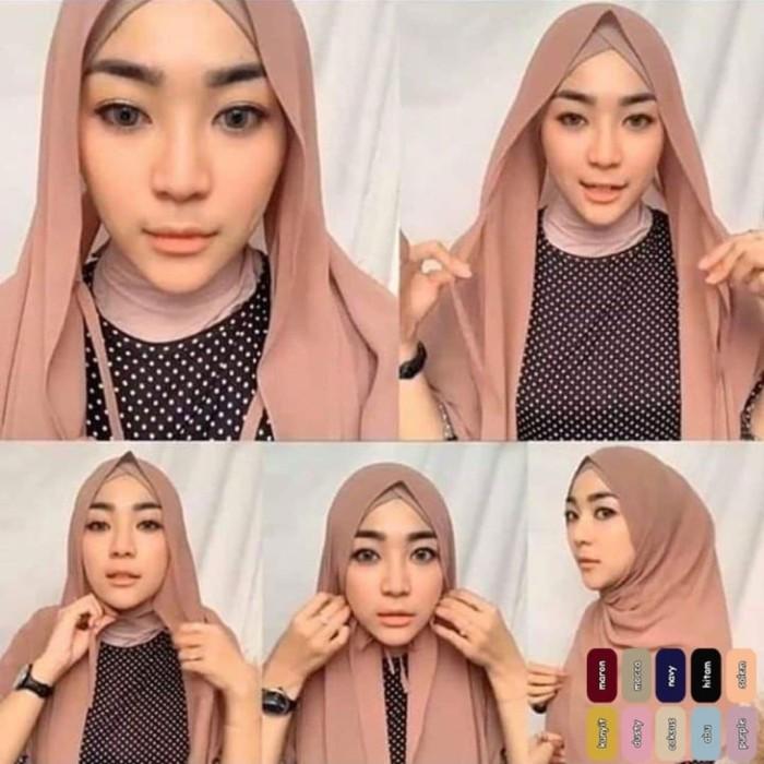Jual Pashmina Tali Ceruty Babydol Pashmina Instan Hijab Style Grosir Murah Kota Bandung Hifashion Hijab Fashion Tokopedia