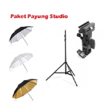Foto Produk Paket Payung Studio Strobist Flash Payung dan Lighstand dari Grosir Aksesoris Kamera