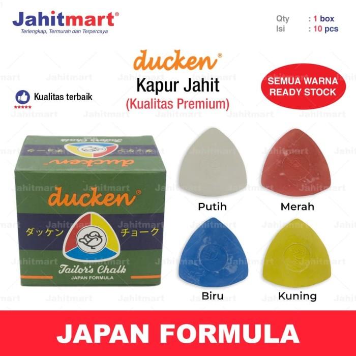 Foto Produk KAPUR JAHIT BEBEK / DUCKEN MALAYSIA (PUTIH,MERAH,KUNING,MERAH,CAMPUR) dari jahitmart