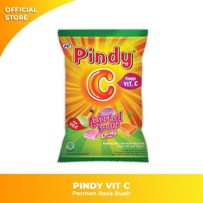 Foto Produk PINDY VIT C Permen Rasa Buah dari IUOfficialStore