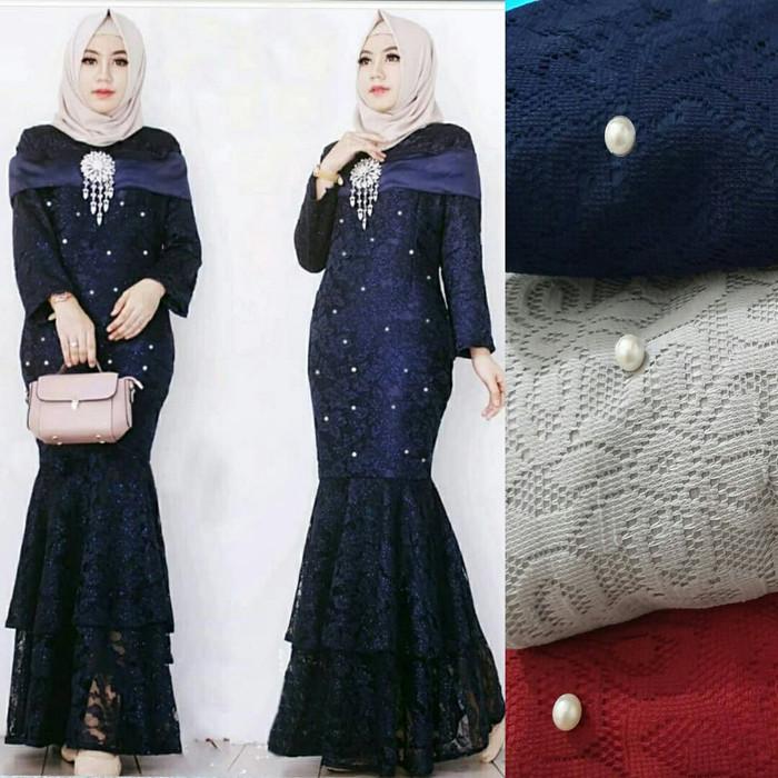 Jual Maxi Duyung Gamis Import Muslim Wanita Dress Brokat Kostum Pesta Biru Kab Bandung Kiddos Club Collection Tokopedia
