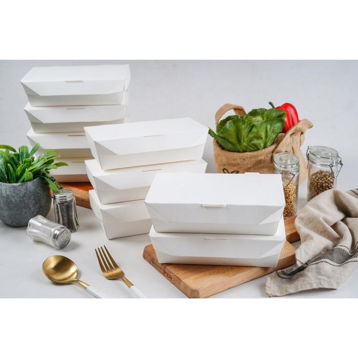 Foto Produk Paper Lunch Box / Kotak Makan Kertas ukuran M - 16x9x5 cm dari Joy Store 25