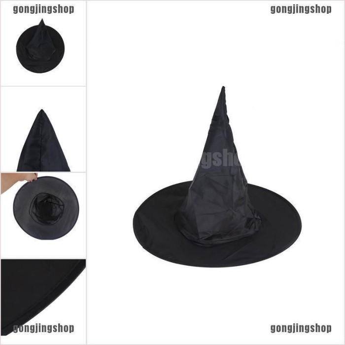 Jual Gonjing5 Halloween Witch Hat Women S Black Witch Hat For Halloween Co Jakarta Barat Tokoe Udin Tokopedia