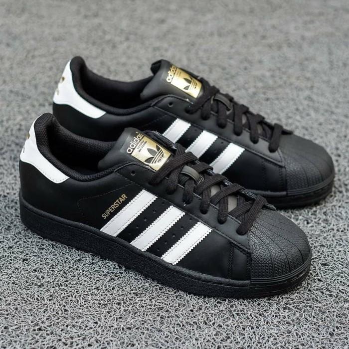Jual Sepatu Adidas Superstar Black White Original Jakarta