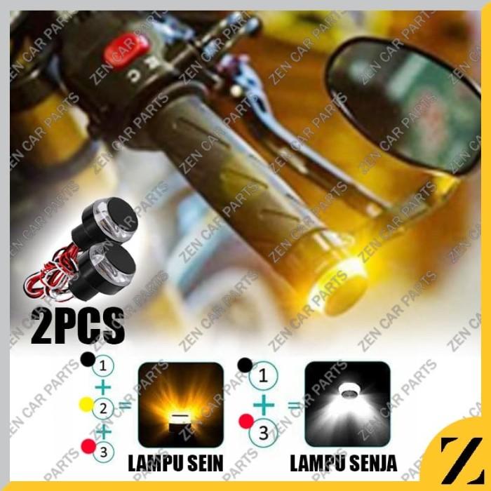 Foto Produk LED JALU LAMPU STANG MOTOR LAMPU HANDLE 2 MODE SEN MOTOR SUPER BRIGHT dari Zen Car Parts