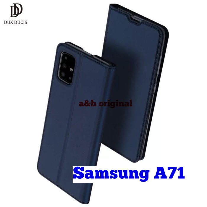 Foto Produk Case Samsung A71 - Dux Ducis Premium Flip Leather Casing Original - Hitam dari a&h original