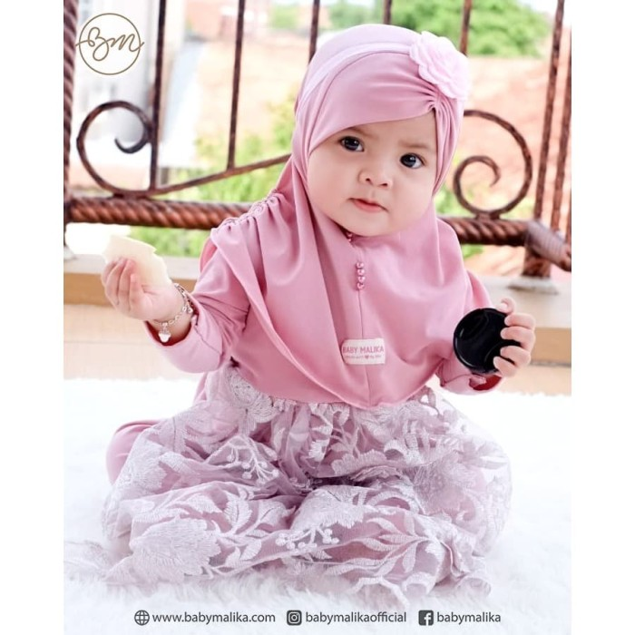 Malika Kids Children Hijab flower
