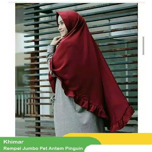 Foto Produk Jilbab Khimar REMPEL JUMBO XL pet anthem pinguin dari Kailila Hijab