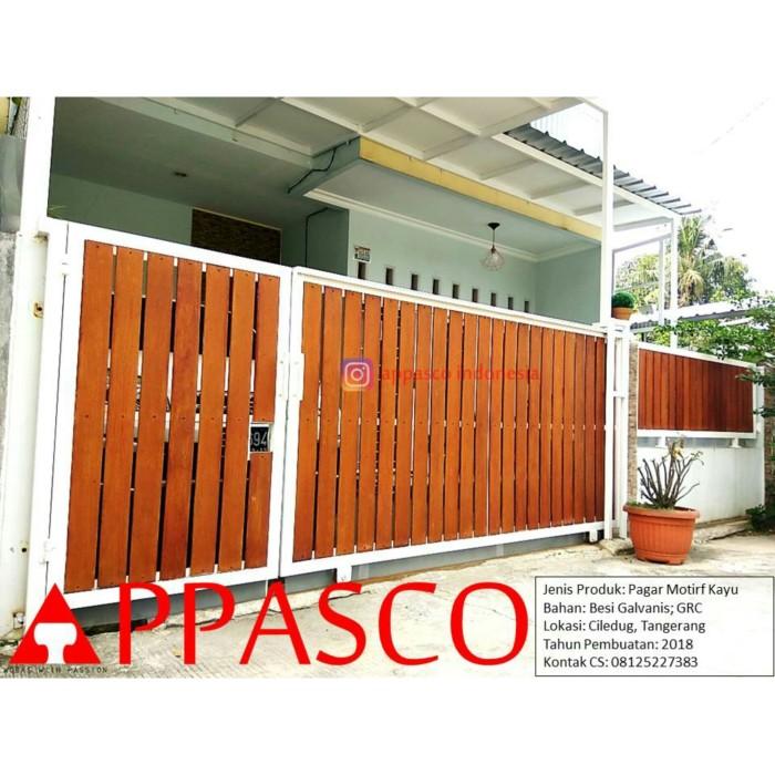 Jual Pagar Woodplank GRC (motif Kayu) - Kota Bogor - BengkelLasBogor |  Tokopedia