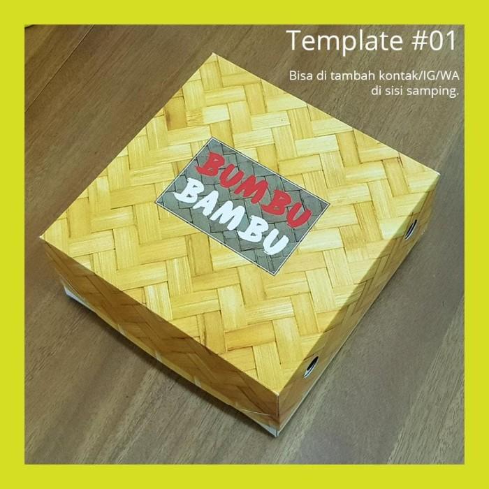 Jual Cetak Kotak Box Dus Nasi - Ukuran 18x18x7 cm -500 ...