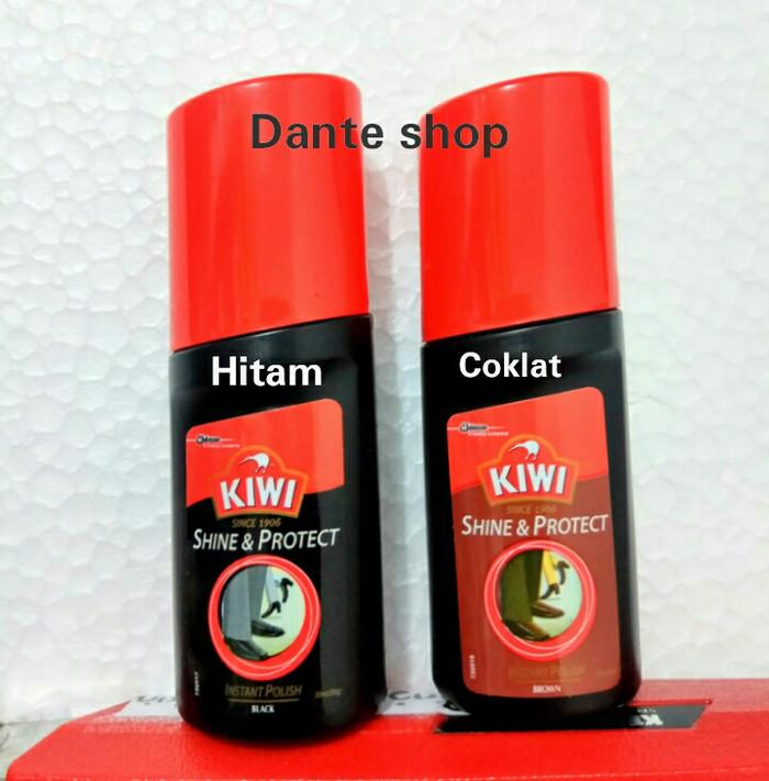 Jual Semir Sepatu Cair Kiwi Shine Protect Warna Hitam Kab