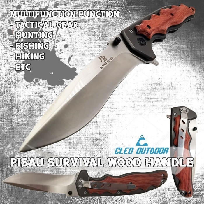 Foto Produk Pisau SurvivalWood Handle dari Cleo Outdoor Adventure
