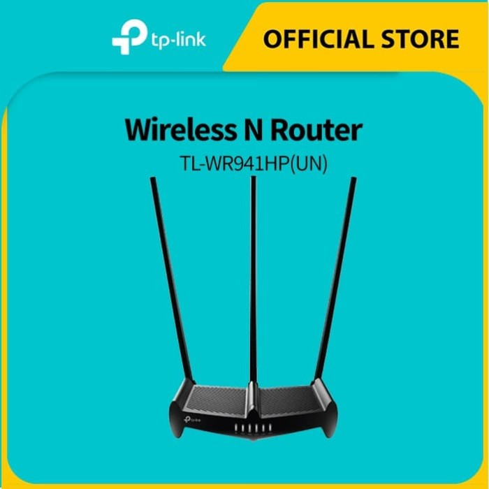 Foto Produk TP-LINK TL-WR941HP 450Mbps High Power Wireless N Router - Black dari TP-Link Official